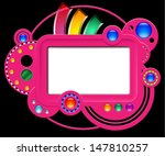 abstract pink web site with...