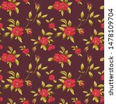 vintage seamless floral pattern ...   Shutterstock . vector #1478109704
