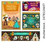 dia de los muertos  mexican... | Shutterstock .eps vector #1478114657