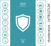 shield. protection icon.... | Shutterstock .eps vector #1478127134