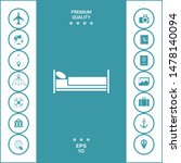 bed symbol icon. graphic... | Shutterstock .eps vector #1478140094