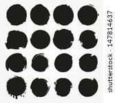 set of vector round grunge... | Shutterstock .eps vector #147814637