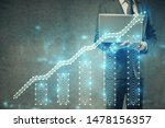 forex graph with businessman... | Shutterstock . vector #1478156357