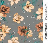 trendy yellow bright floral... | Shutterstock .eps vector #1478184674
