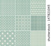 set of faded blue retro polka... | Shutterstock .eps vector #147821045