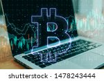 cryptocurrency concept with... | Shutterstock . vector #1478243444