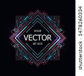 line art sci fi geometric badge ... | Shutterstock .eps vector #1478260334
