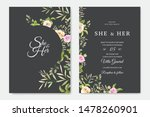 invitation card with beautiful... | Shutterstock .eps vector #1478260901