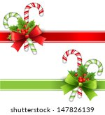 christmas decoration with holly ... | Shutterstock .eps vector #147826139