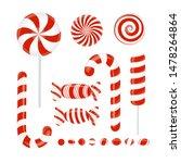 set of candies caramel ... | Shutterstock .eps vector #1478264864