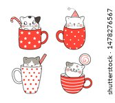 Draw Vector Collection Cute Cat ...