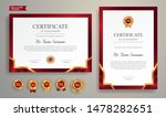 Red And Gold Certificate Of...
