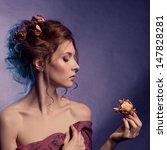 beauty girl.fashion art woman...   Shutterstock . vector #147828281
