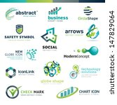 set of business abstract icons | Shutterstock .eps vector #147829064