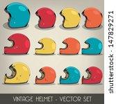 vintage helmet vector set | Shutterstock .eps vector #147829271