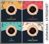 cup of coffee. set of sketch... | Shutterstock .eps vector #1478320487