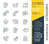 lineo editable stroke   message ...   Shutterstock .eps vector #1478323841
