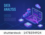 data analysis dark neon light... | Shutterstock .eps vector #1478354924