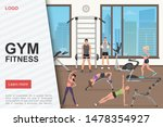 gym workout landing page vector ...