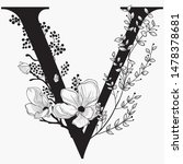vector hand drawn floral...   Shutterstock .eps vector #1478378681