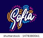 sofia handwritten city name... | Shutterstock .eps vector #1478380061