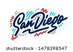 San Diego Handwritten City Nam...