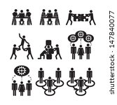 teamwork icons set | Shutterstock .eps vector #147840077