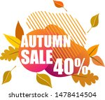 autumn sale banner. template... | Shutterstock .eps vector #1478414504