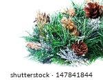 christmas decoration with fir... | Shutterstock . vector #147841844