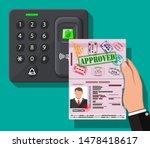 password and fingerprint... | Shutterstock .eps vector #1478418617