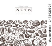 culinary nuts design. hand... | Shutterstock .eps vector #1478420924