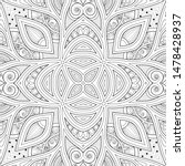 monochrome seamless pattern... | Shutterstock .eps vector #1478428937