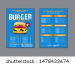menu placemat food restaurant... | Shutterstock .eps vector #1478433674