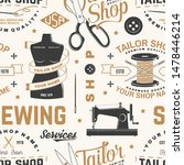 tailor shop seamless pattern or ... | Shutterstock .eps vector #1478446214