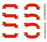 red ribbons banner set on white ...   Shutterstock .eps vector #1478449451