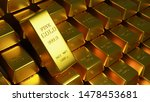 Stock photo  d illustartion of gold bars grams pure gold 1478453681
