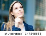 portrait of a thoughtful... | Shutterstock . vector #147845555