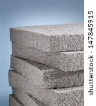 stack of cellulose insulation... | Shutterstock . vector #147845915