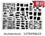 set of painted grunge stripes.... | Shutterstock .eps vector #1478498624