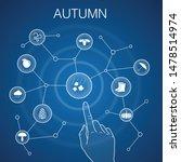 autumn concept  blue background....