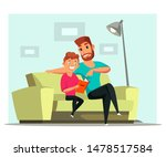father and son bonding flat... | Shutterstock .eps vector #1478517584