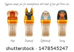 ancient egyptian canopic jars... | Shutterstock .eps vector #1478545247
