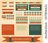 vector retro vintage web... | Shutterstock .eps vector #147854621