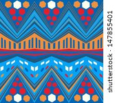 seamless colorful ethnic pattern | Shutterstock .eps vector #147855401