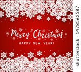 christmas paper snowflakes... | Shutterstock .eps vector #1478562587