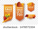 autumn sale tags isolated.... | Shutterstock .eps vector #1478572334