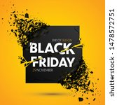 black friday sale vector banner   Shutterstock .eps vector #1478572751