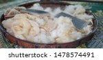 fleece and brush in the basket | Shutterstock . vector #1478574491