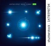 lighting effect star glittering ... | Shutterstock .eps vector #1478598734