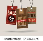 sale tags design | Shutterstock .eps vector #147861875